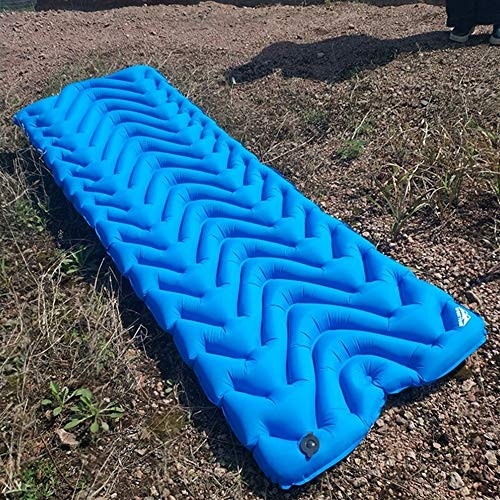 Camping Roll Mat Sleeping Mat Camping Air mattress inflatable ultralight sleeping pad tent air bed outdoor camping mat Waterproof Durable Camping Air Mattress for Hiking (Color : Black with air bag)