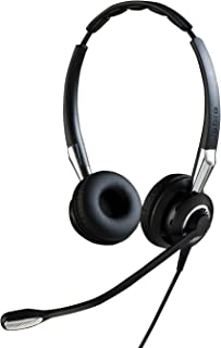 Jabra Biz 2400 II Quick Disconnect On-Ear Stereo Headset - Ultra noise-cancelling and Corded Lightweight Headphone with HD...