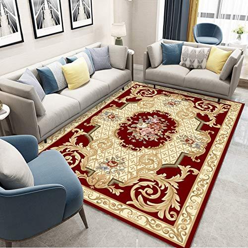 VitaLity Wohnzimmer Teppich Im Vintage,Industrial Style Rechteckige Retro-Bedruckte Teppich-Eingangsmatte im Europäischen Stil,Antirutschmatte für Teppich 60X90cm