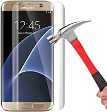 Galaxy S7 Edge Tempered Glass Screen Protector, AUSURE Ultra Clear HD Screen Protector [3D Full Curved Edge] [9H Hardness] [Anti-Scratches] [Anti-Fingerprint] for Samsung Galaxy S7 Edge (1 Pack)