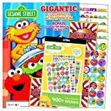Sesame Street Gigantic Coloring Book Stickers Set with Reward Stickers, Coloring Pages, Games, and Activities Bundle Includes Separately Licensed GWW Stickers