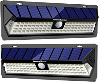 InnoGear Solar Lights Outdoor with Wide Lighting Area Wireless Motion Sensor Security Night Light Wall Sconce Lamp Waterproof for Back Yard Driveway Garage Patio and Garden (Pack of 2)