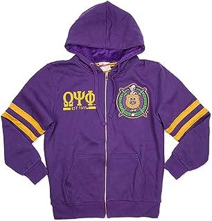 Omega Psi Phi Fraternity Mens New Zip-Up Hoodie Purple