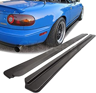 GT-Speed for 1990-1997 Mazda Miata NA MX5 Feed Style PU Side Skirt Extensions Splitter Lip