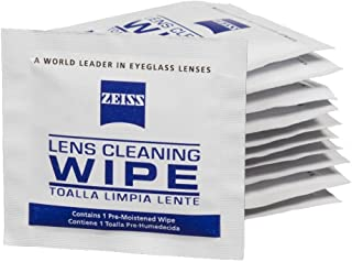 Zeiss Pre-Moistened Lens Cleaning Wipes - Cleans Bacteria and Germs Without Streaks for Eyeglasses and Sunglasses