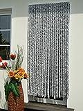 Leguana Handels GmbH Türvorhang Flauschvorhang Flauschi Chenille 90x200 silberweiss