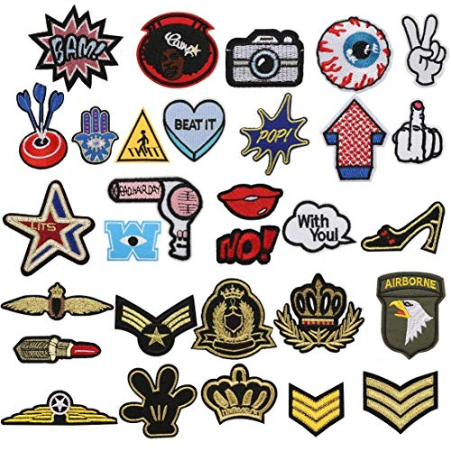 Patch Sticker, Tatuer 30 Piezas Hierro Parches