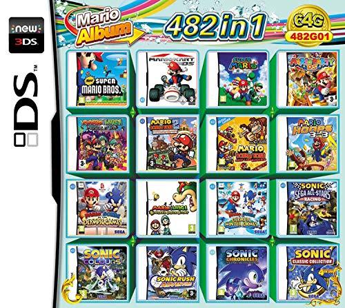 482 en 1 Juego a gran escala – Compilaciones de tarjetas NDS Game Pack Tarjeta Cartuchos para Videojuegos DS-para NDS DS Nuevo 3DS XL