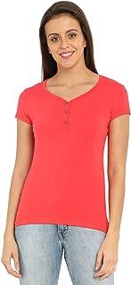 Jockey Women's Cotton Henley T-Shirt