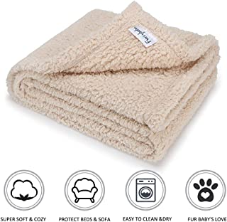 furrybaby Premium Fluffy Fleece Dog Blanket, Soft and Warm Pet Throw for Dogs & Cats (Medium (32 * 40