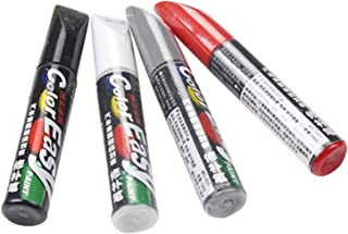 4 stuks autoreparatiekwasten, reparatiemiddel, autolak, reparatiemiddel, autolak, krasstift, wit/zwart/zilver/rood, 12 ml