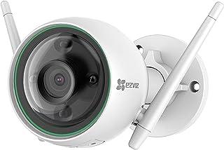 كاميرا مراقبة امنية ذكية للاستخدام الخارجي تعمل بتقنية الذكاء الاصطناعي بقوة 1080P من EZVIZ C3N - رؤية ليلية ملونة، خاصية ...