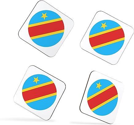 Democratic Republic of Congo Flag Flag République Démocratique du Congo Drapeau Coasters