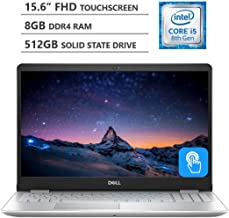 """2019 Newest Dell Inspiron 15.6"""" Full HD LED-Backlit Touchscreen Laptop, Intel Core i5-8265U Processor up to 3.9GHz, 8GB RAM, 512GB Solid State Drive, Backlit Keyboard, Wireless-AC, Windows 10, Silver"""