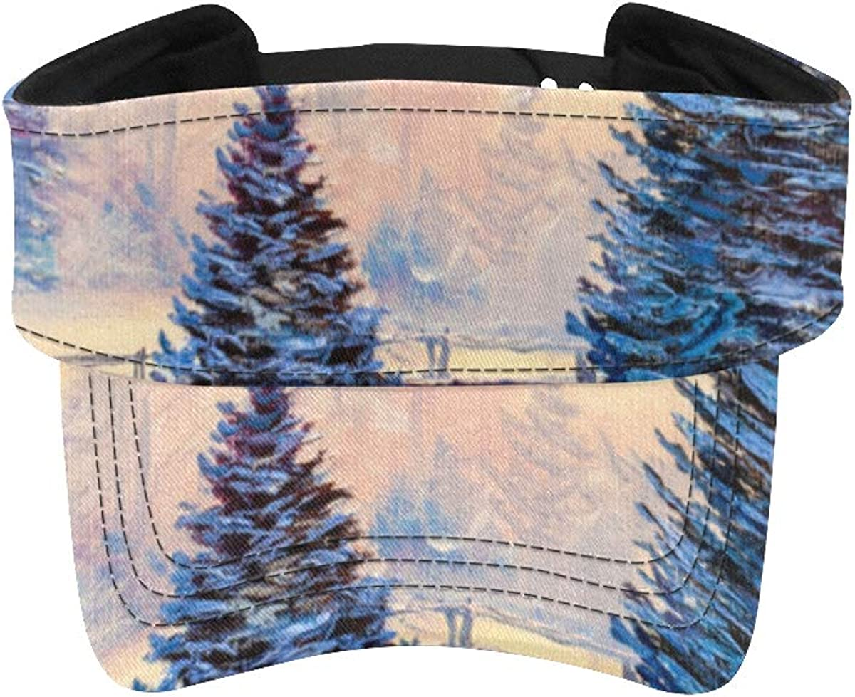 Fees free Hats for Running Beautiful Ranking TOP1 Landscape Sport Visor Sun Forest