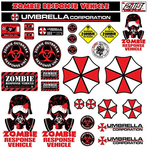 R/C 1:10 Scale Zombie Decal Sticker Pack Set Body Axial SCX10 Wraith Crawler RC for Your RC car Body, Scale Garage| Waterproof Gas Proof Tear Proof | Easy Peel & Stick | Made in The USA