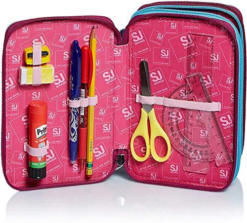 61F6Be4G+gL - Seven SJ Gang Sweet Wave - Estuche escolar con 3 cremalleras, con papelería