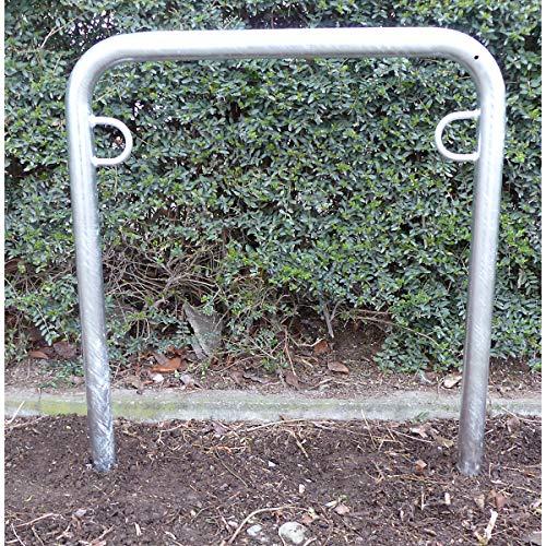 Melzer Metallbau Fahrradanlehnbügel, 850 mm über Flur - zum Einbetonieren, feuerverzinkt - U-förmig, Länge 750 mm - Anlehnbügel für Fahrräder Bügelparker Fahrradanlehnbügel Fahrradhalter Fahrradparker Fahrradständer Fahrräderständer Ständer für