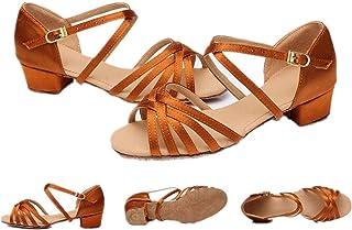 zaragfushfd Women Ballroom Dance Shoes Latin Salsa Performance Dance Shoes