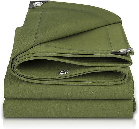 VertLZ Bache en Toile Robuste, bache épaisse en Fibre de Polyester tissée serrée - 500g   m2, 100% étanche et résistante aux UV