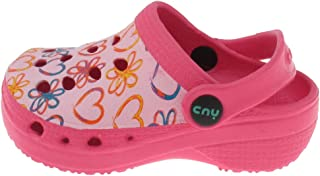 Toddler Girls Scattered Hearts Printed Injected EVA Clog with Backstrap.