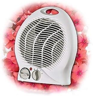 Stecto Portátil Calefactor, Mini Ventilador Calefactor eléctrico con termostato Ajustable, protección contra sobrecalentamiento, Ventilador Calefactor de bajo Ruido para el hogar, Oficina, Viajes