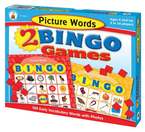 Picture Words 2 Bingo Games [With 32 Two-Sided Game Cards and Tokens, Calling Cards, Answer Mat]
