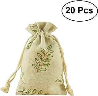 DAHI Baumwolls/äckchen 25pcs s/äckchen mit Baumwollkordel 13x18cm Leinens/äckchen jutes/äckchen Geschenks/äckchen 13X18cm