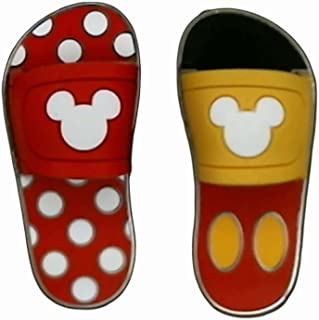 Sandals/Flip Flops - Mickey & Minnie (2 Pin Set)