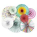 Monkey Home - Una variedad de abanicos plegables de papel - Abanicos para fiestas de cumpleaños, bodas, decoraciones