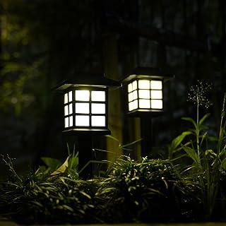 GIGALUMI 8 Pack Solar Pathway Lights Outdoor, Waterproof Outdoor Solar Lights for Garden, Landscape, Path, Yard, Patio, Dr...