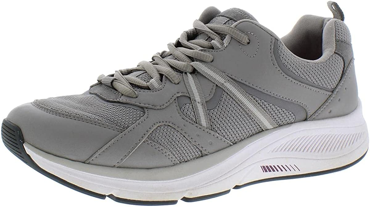 Easy Spirit Womens Outrun Leather Comfort Walking Shoes