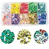 Tangger 10 Colori Paillettes Lustrini Coppa Sfusa Tazze Paillettes Artigianato Lustrini Iridescente per Fabricazione Fai da Te, 6 mm