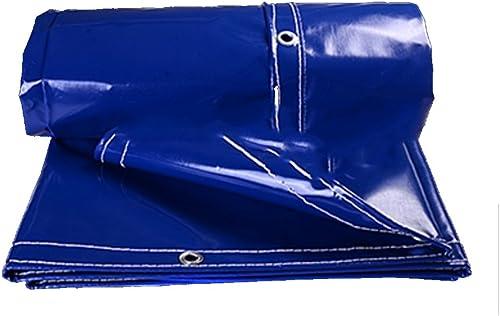 Waterproof tarpaulin NAN Bache extérieure d'ombre Anti-Solaire de bache supérieure Bleue de PVC 0.5MM - 500g   M2 (Taille   3  4m)