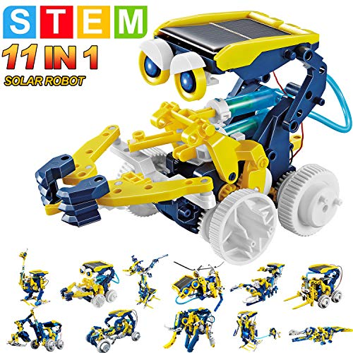 commercial HOMOFY STEM Toy Solar Robot Kit 11-in-1 Education Science Kit Toy Science Learning Building… robots for 10 year olds