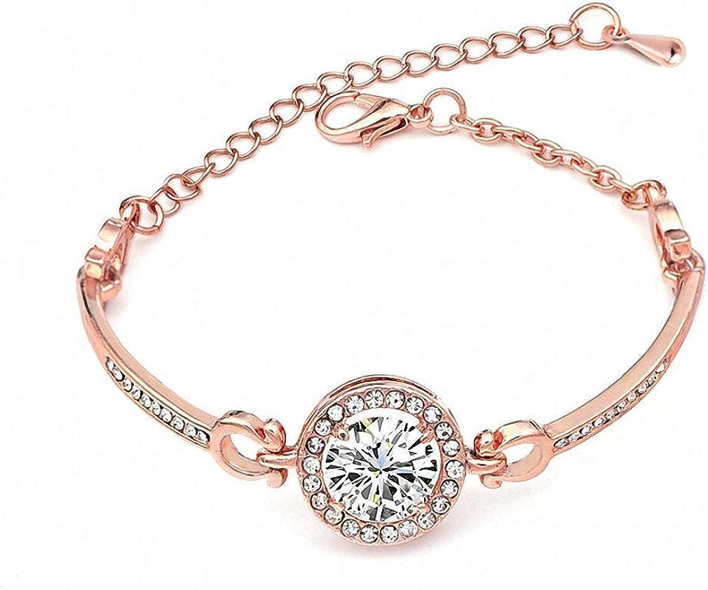 New sales Womens Bracelet Trendy Jewelry Rose Some reservation Gold S Bracelets Cute Zircon