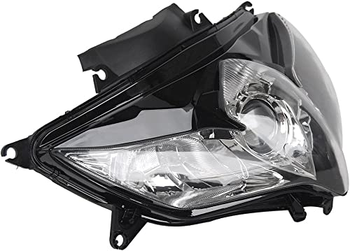 2021 Mallofusa Motorcycle Front Headlight Headlamp Assembly wholesale Compatible for Suzuki GSXR600 GSXR750 2008 2009 2010 Clear high quality Lens sale