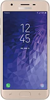"Samsung Galaxy J3 Star 16GB J337T 5.0"" HD Display Android 8.0 4G LTE T-Mobile Smartphone - Gold (Renewed)"