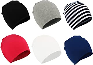 Zando Baby Cotton Beanies for Boys Toddler Knit Hats Cute Warm Infant Beanies for Baby Girls Newborn Caps for Baby Boy