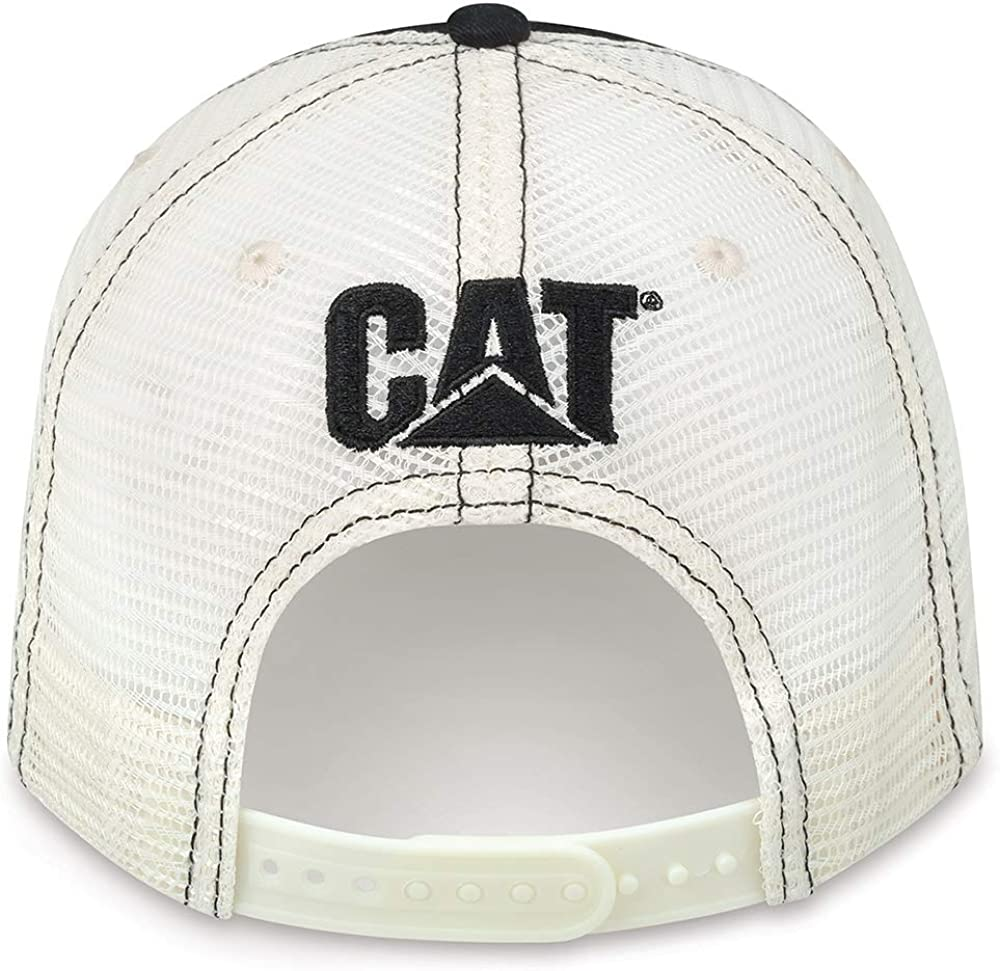 Caterpillar CAT Equipment Black & Tan C Block Heritage Mesh Snapback Cap/Hat
