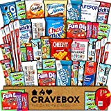 CraveBox Care Package (45 Count) Snacks Food Cookies Chocolate Bar Chips Candy Ultimate Variety Gift Box Pack Assortment Basket Bundle Mix Bulk Sampler Treat College Students Final Exam Office Easter