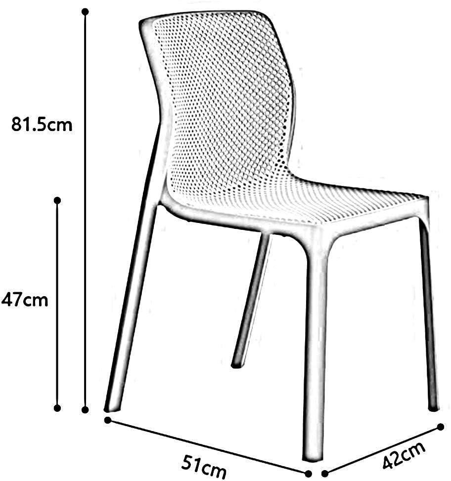 WYYY chaise de Bureau Chaise De Salle À Manger Moderne Pièce Chaise De Côté Bureau Siège en Plastique Durable Fort (Couleur : Blanc) Blanc