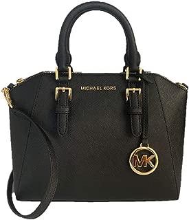 Ciara Medium Saffiano Leather Messenger Bag