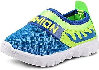 933288766fb0 Femizee Toddler Boy Girl Lightweight Air Athletic Sneakers Slip-on Running  Shoes