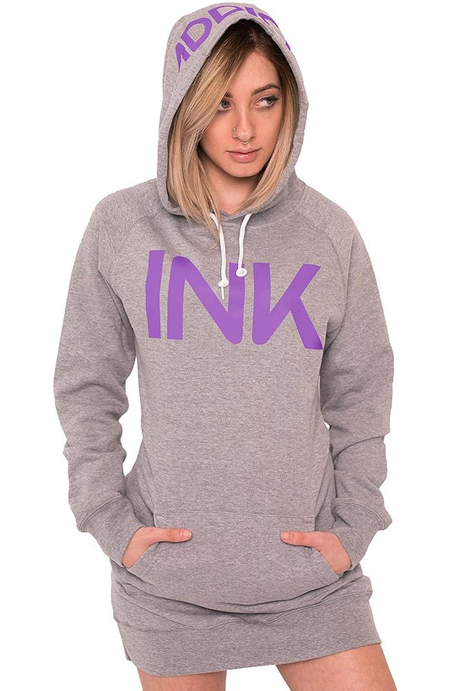 Ink Women's Heather Grey Pullover Hoodie Dress by InkAddict
