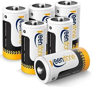 Keenstone C Size 6PCS Pilas Ni-MH Recargables Batería 1.2V 5000mAh 1200 Ciclos Potencia Ultra y Rendimiento Alto, con Cajas de Almacenamiento