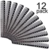Best Barber Combs - 12 Packs Fine Cutting Comb Carbon Hairdressing Comb Review