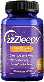 #1 Best Sleep Aid Supplement for Insomnia Relief | Relax & Fall Asleep Fast | 100% All-Natural Sleep Formula | Non-Habit F...