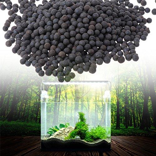 Daxibb Ceramsite Sable noir pour décoration d'aquarium