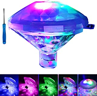 Antallcky Bath Light Bathtub Lights Upgrade Version,Waterproof Colorful LED Toys,Floating Lights Battery